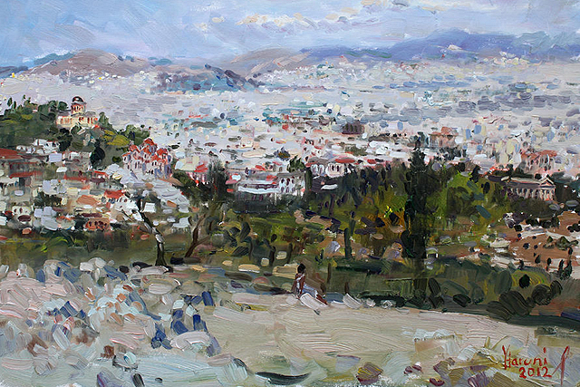 02 View Of Athens From Acropolis is a painting by Ylli Haruni