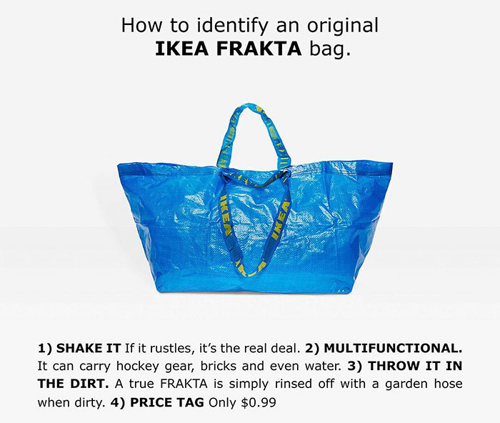 ikea responds balenciaga original frakta bag 5