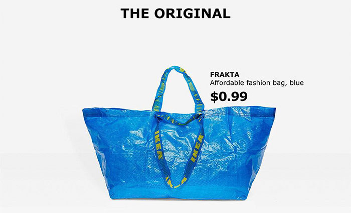 ikea responds balenciaga original frakta bag 6