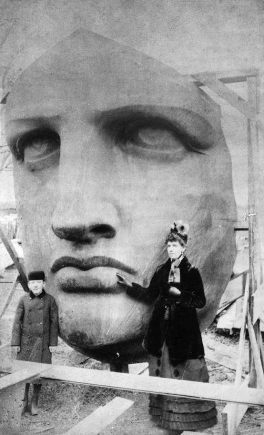 845662 Head of the Statue of Liberty 1885