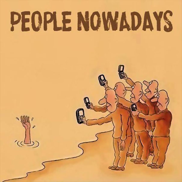 XX Cartoons Ironically Showing Our Smartphone Addiction1 605