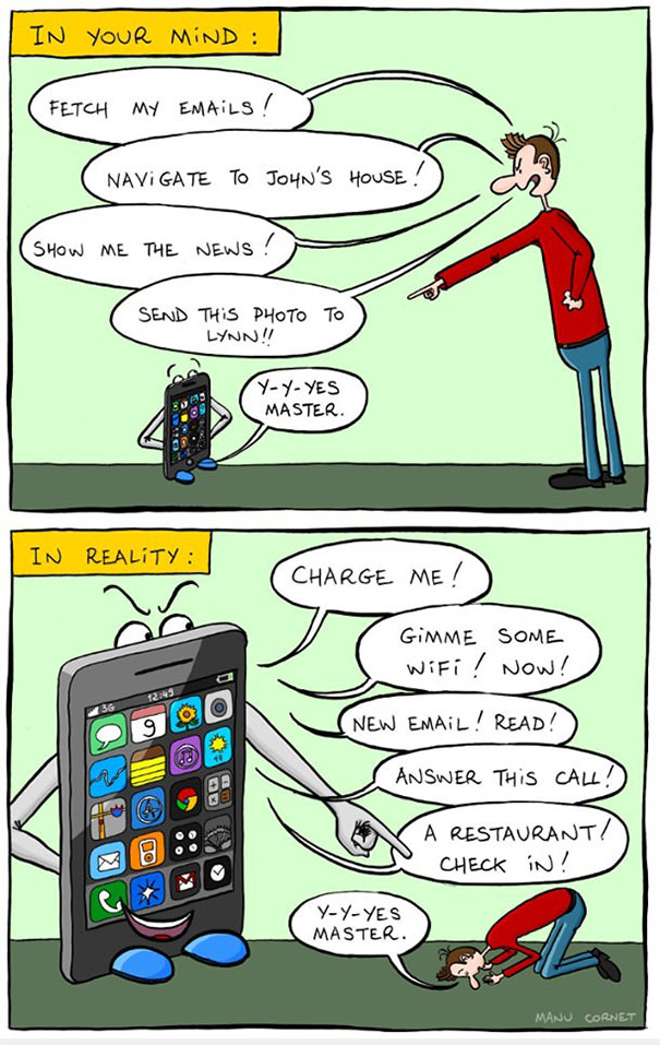 XX Cartoons Ironically Showing Our Smartphone Addiction 605
