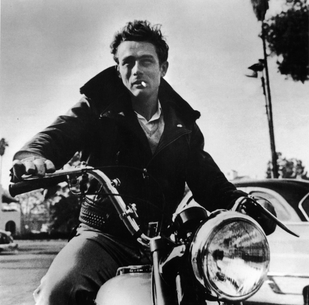 james dean motorcycle photo