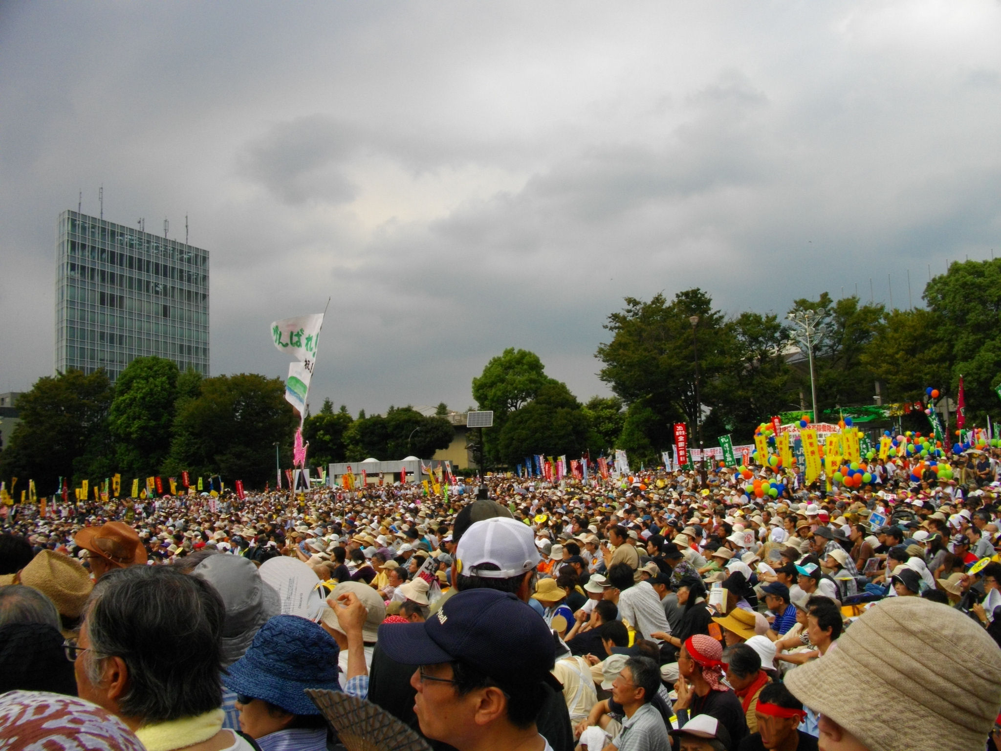 Anti Nuclear Power Plant Rally on 19 September 2011 at Meiji Shrine Outer Garden 03