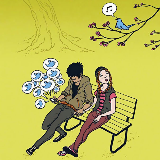 smartphone addiction illustrations cartoons 9 605